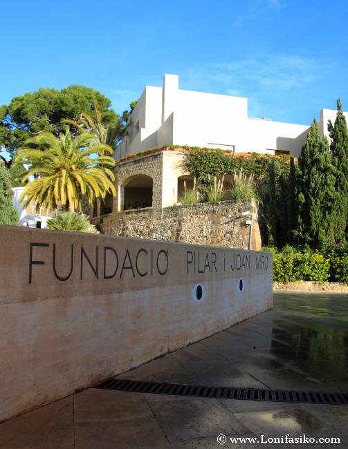 Entrada de la Fundació Pilar i Joan Miró en Palma de Mallorca
