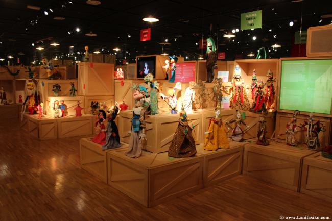 Exposición de marionetas en Topic, centro internacional del títere de Tolosa