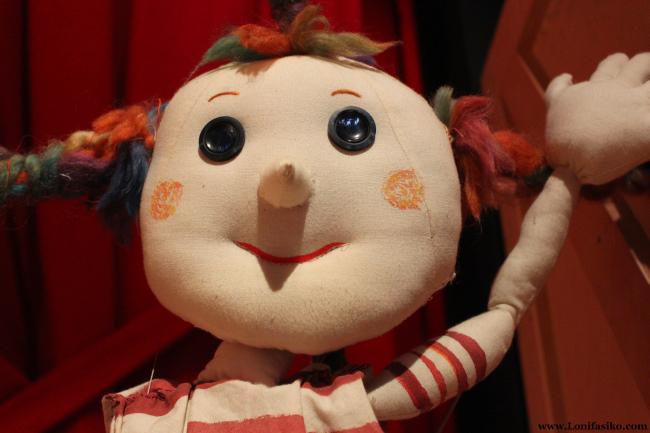 Mariona, la simpática marioneta mascota del centro Topic de Tolosa