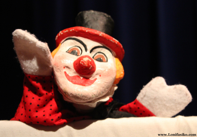 Marioneta de mago en el centro Topic de Tolosa