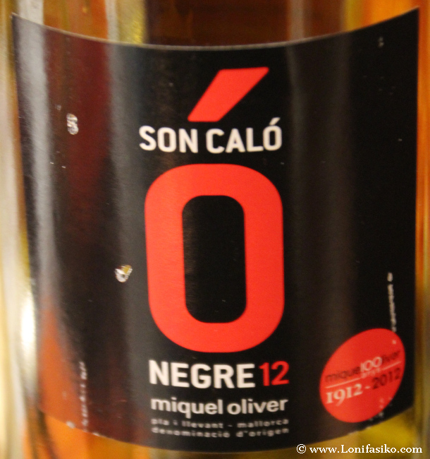 Vino tinto Negre 12, de bodegas Miquel Oliver