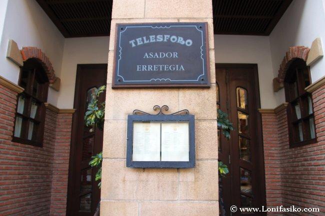 Entrada al restaurante asador Telesforo