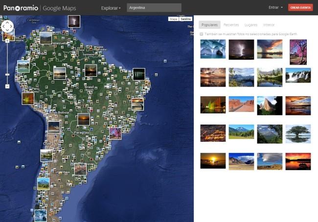 Panoramio, servicio de imágenes geolocalizadas