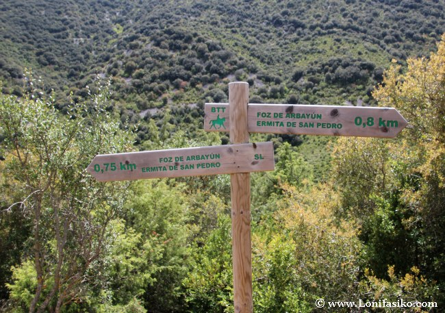 Rutas de senderismo en la Foz de Arbayún/Arbaiun