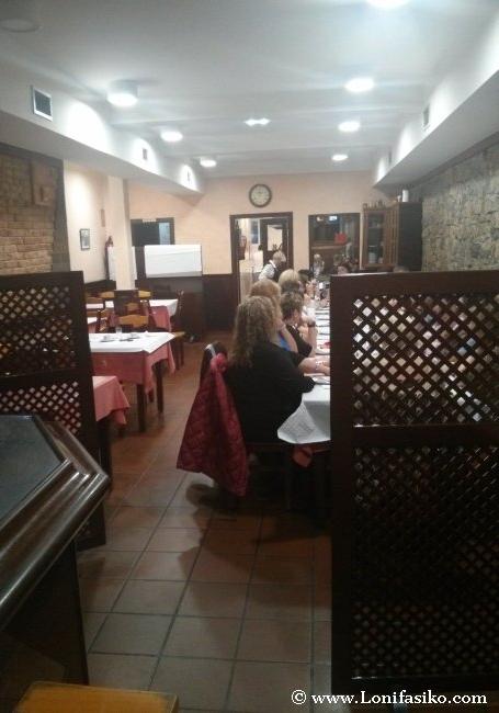 Acceso al comedor del restaurante Casa Dulce