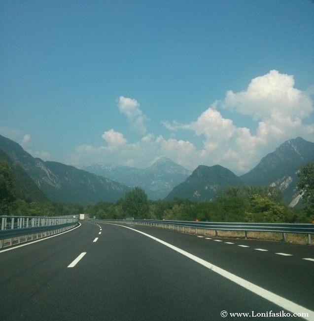 Cómo ir de Italia a Austria y a Eslovenia por autopista A23