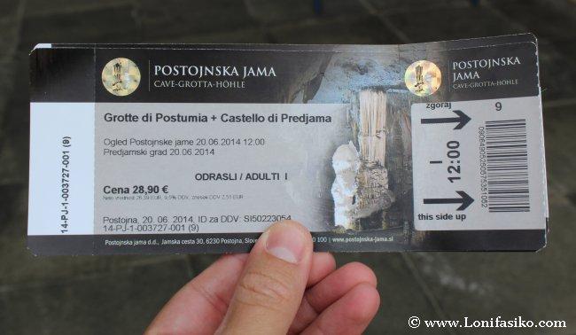 Entrada cueva Postojna y castillo Predjama