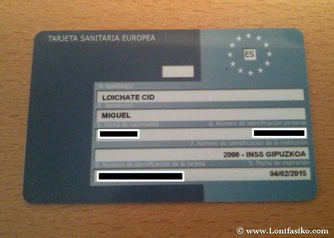 Documentación para viajar a Eslovenia con niños: Tarjeta Sanitaria Europea