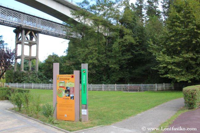 Inicio del camino de Lointzi, que sube hasta Danborre, inicio de la vía verde