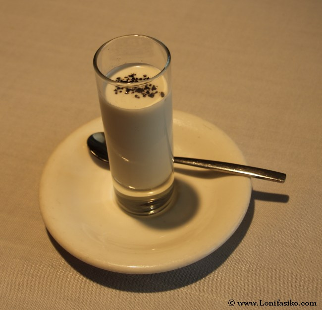 Sorbete de ajo blanco