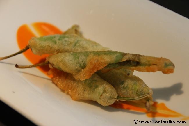 Guindilla de Ibarra en tempura