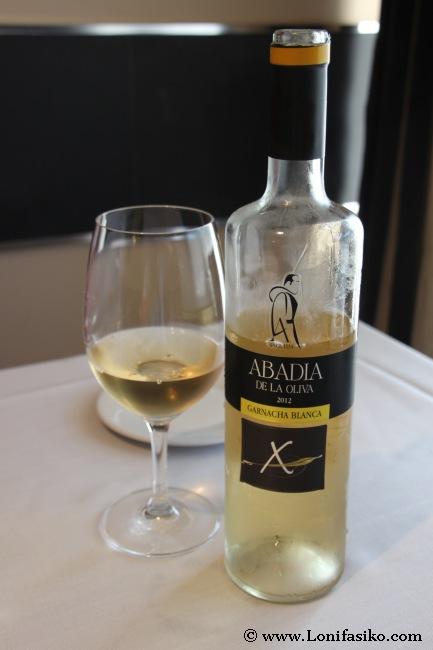 Vino blanco de uva garnacha blanca