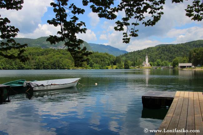 Lago Bohinj en barco