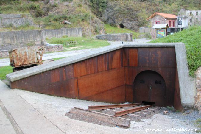 Parte exterior del coto minero de Arditurri