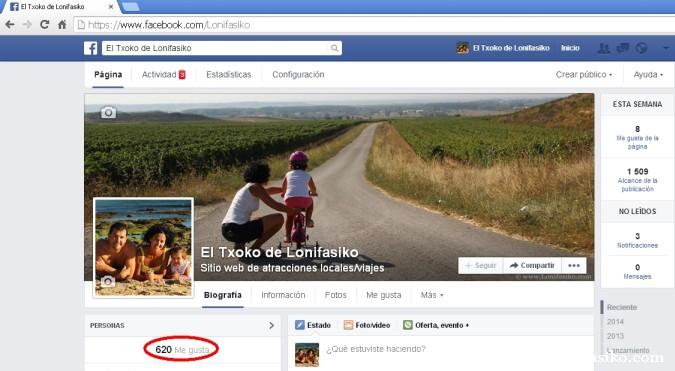 La página de Facebook de 'El Txoko de Lonifasiko'