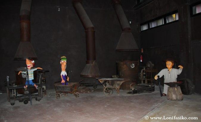 Burdintxo, mascota de la ferrería de Mirandaola