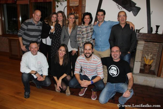 Grupo que atendió a la masterclass en el restaurante Aretxondo