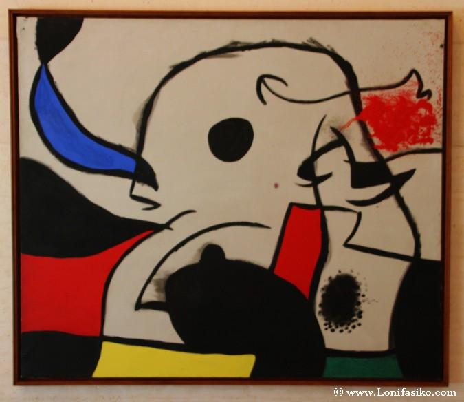 Cuadro de Joan Miró en la Fundaciò Miró en Palma de Mallorca