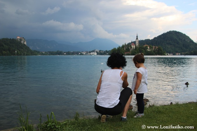 Zona de baño en el lago Bled