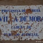 Placa de la villa de Mora de Rubielos