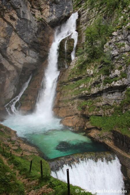 Cascada Savica, la cascada más famosa de Eslovenia