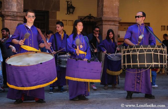 Tambores en la Semana Santa de Teruel