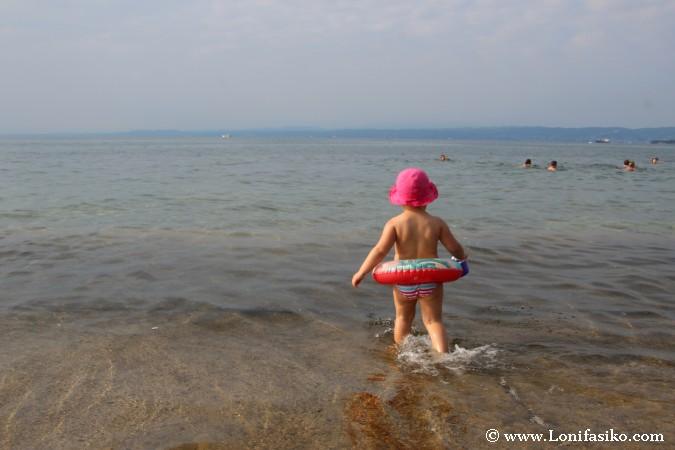 Aguas de la limitada costa de Eslovenia