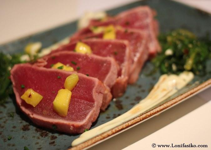 Tataki de atún en Miu japonés