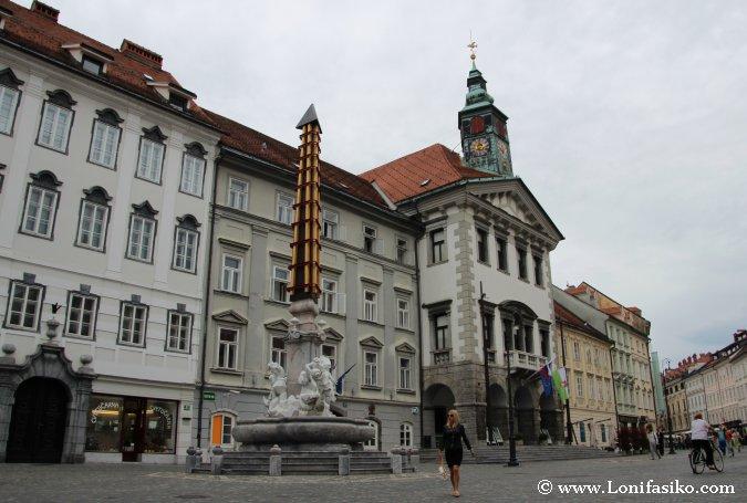 Ayuntamiento y centro historico de Liubliana
