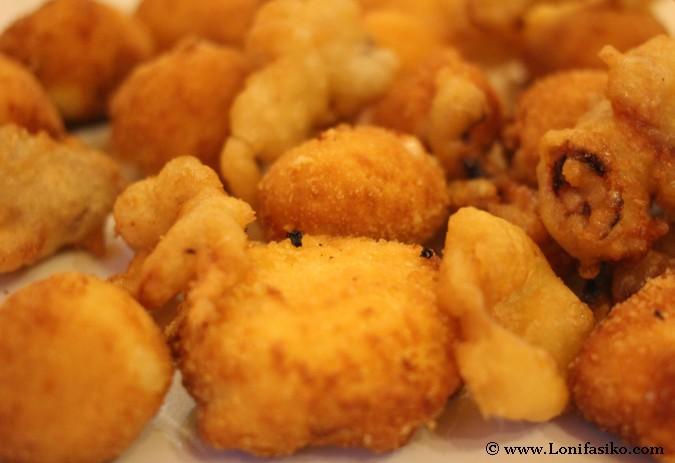 Fritos variados en restaurante Gaztainuzketa