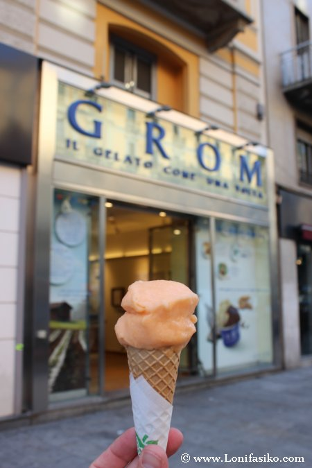 Heladerías Grom en Milán