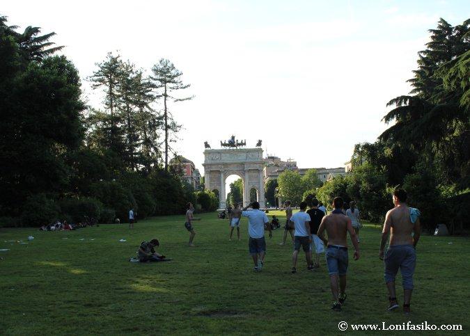 Parque Sempione en Milán