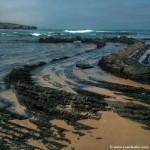 Formaciones geológicas en la costa de Portugal