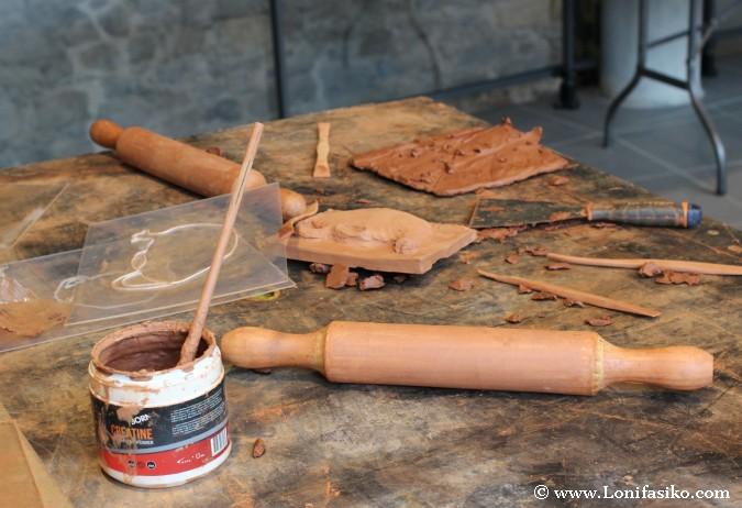 Mesa taller de cerámica