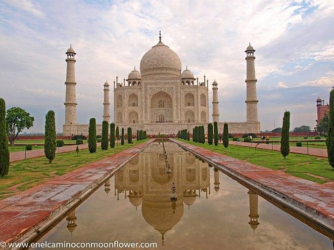 Fotografías del Taj-Mahal con reflejos