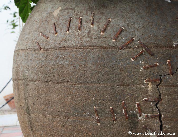 Antigua tinaja de vino en Museo Palmero