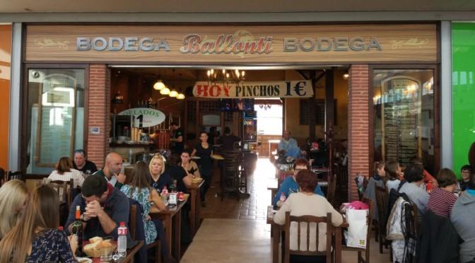 Bodega Ballonti, érase una vez un menú normalito al lado de un barco pirata