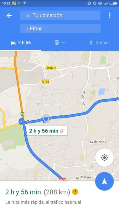 Localización en tiempo real en Google Maps