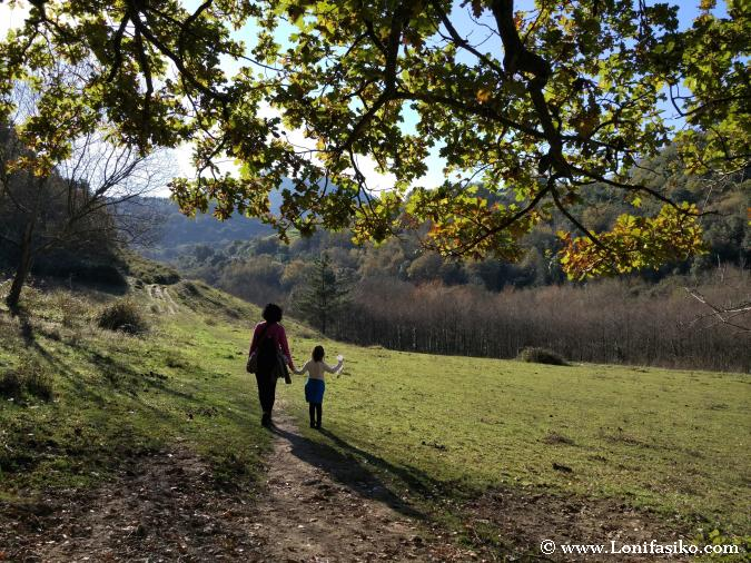 Paseo a Sakoneta con niños desde Errota Berri