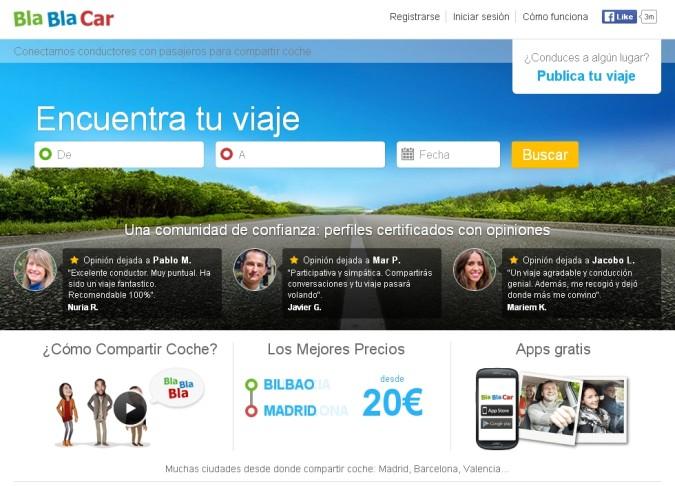 Compartir coche con BlaBlaCar