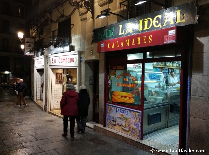 Mejores bocadillos de calamares en Madrid