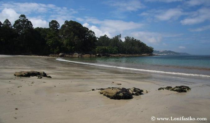 Playas en Bueu: Praia Lapamán Fotos