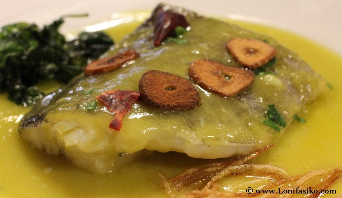 Gastronomía vasca tradicional bacalao pil-pil