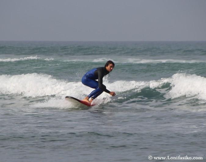 Primeros pasos surf fotos