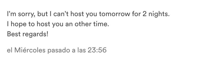 Airbnb mensajes usuarios
