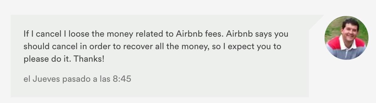 Cancelar reserva en Airbnb