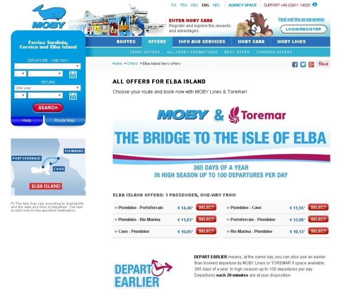 Web reserva tickets ferrys Elba
