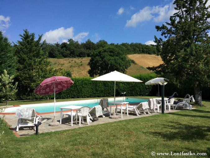 Alojamiento con piscina Toscana con niños
