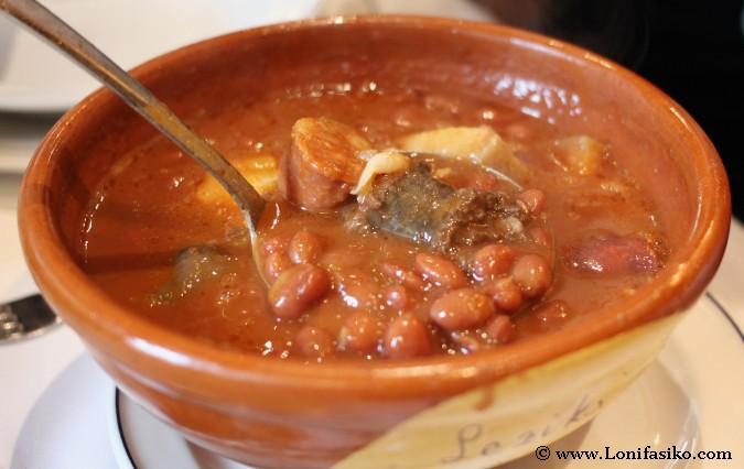 Comer alubias en Euskadi