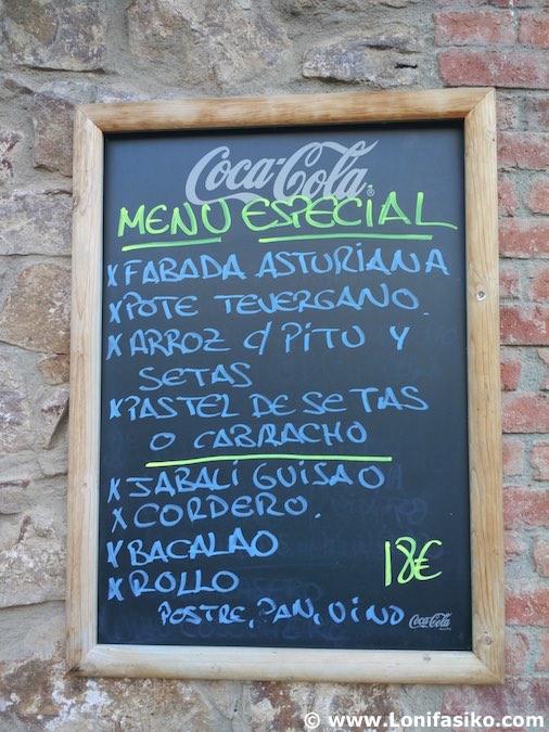 Asturias qué comer menú típico